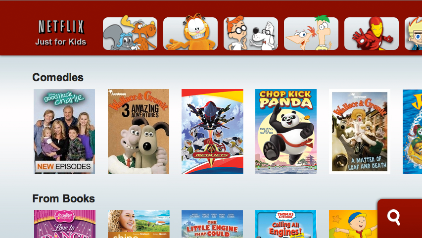 Netflix Just For Kids on Wii