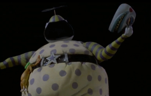 Nightmare Before Christmas Clown With A Tear Away Face.Big Shiny Robot Halloween Movie Review The Nightmare