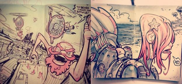 Scribbles by Kevin Merriman