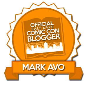 Official blogger badge for the Salt Lake Comic Con