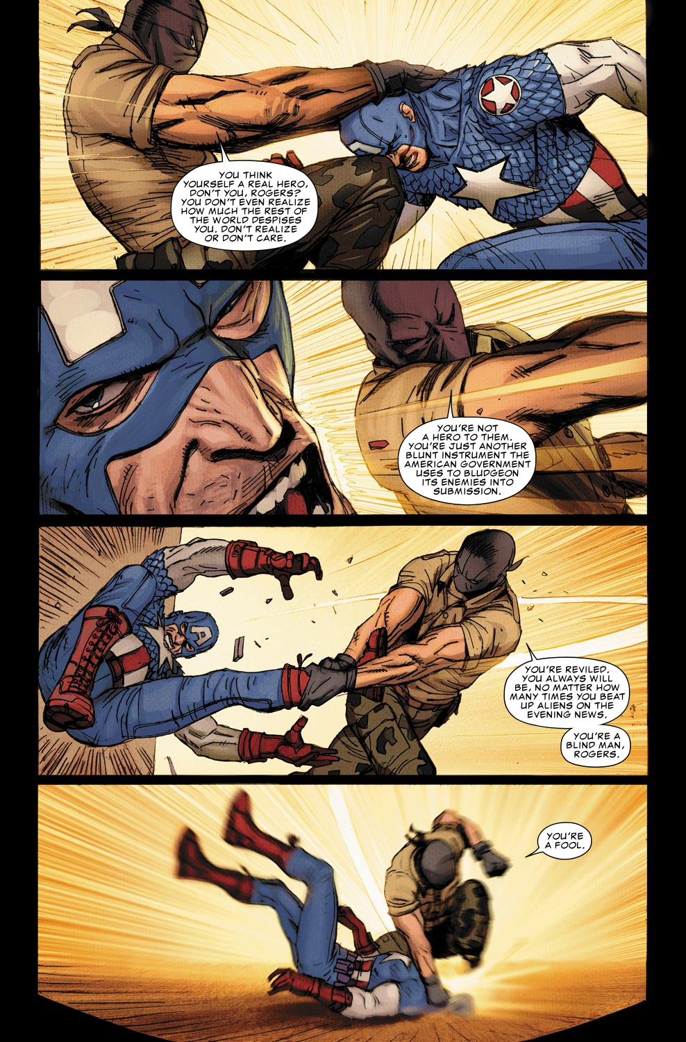 Ultimate Comics Captain America Panels by Ron Garney