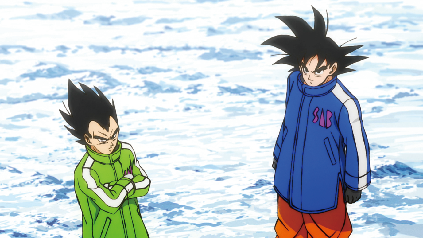 Funimation | Goku and Vegeta in winter clothes